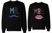 mr mustache,mrs lips,mr and mrs shirts,mr and mrs sweatshirts,mr and mrs,mustache shirts,newlyweds gifts,his and hers gift,his and hers sweatshirts,his and hers clothing,his and hers wear,couple,matching couples,matching sweatshirts for couples,matching couple sweatshirts,matching sweatshirts,couple sweaters