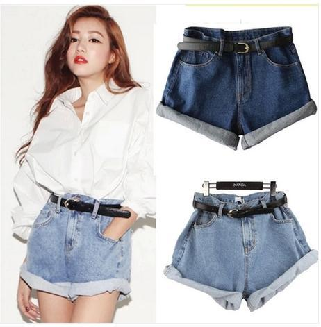Show thin restore ancient ways of tall waist jean shorts / fanewant