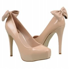 BEIGE HEEL BOW on The Hunt