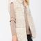 Shearling vest in sand