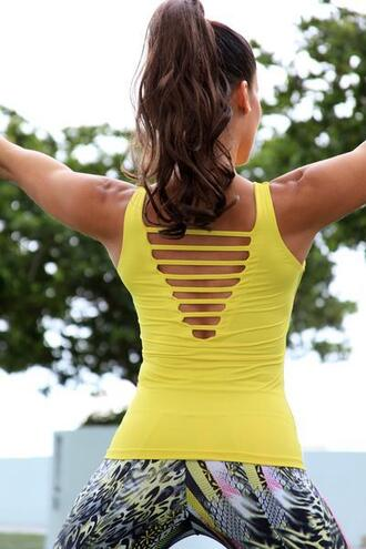 top active top equilibrium activewear yellow bikiniluxe