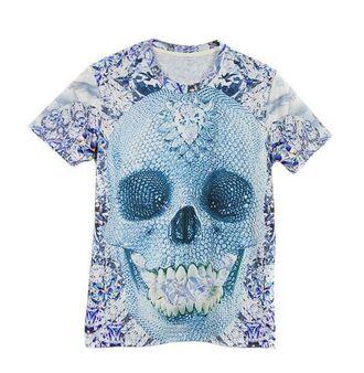 t-shirt www.ustrendy.com unisex tee unisex tshirt crystal skull tee skull print 3d print tshirt skull t-shirt