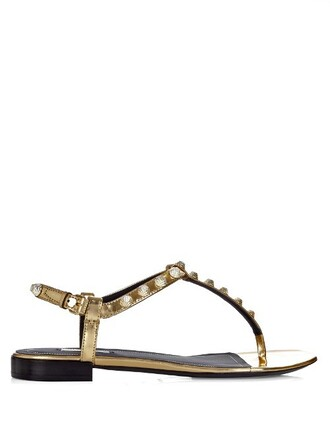 studded sandals leather sandals leather gold shoes