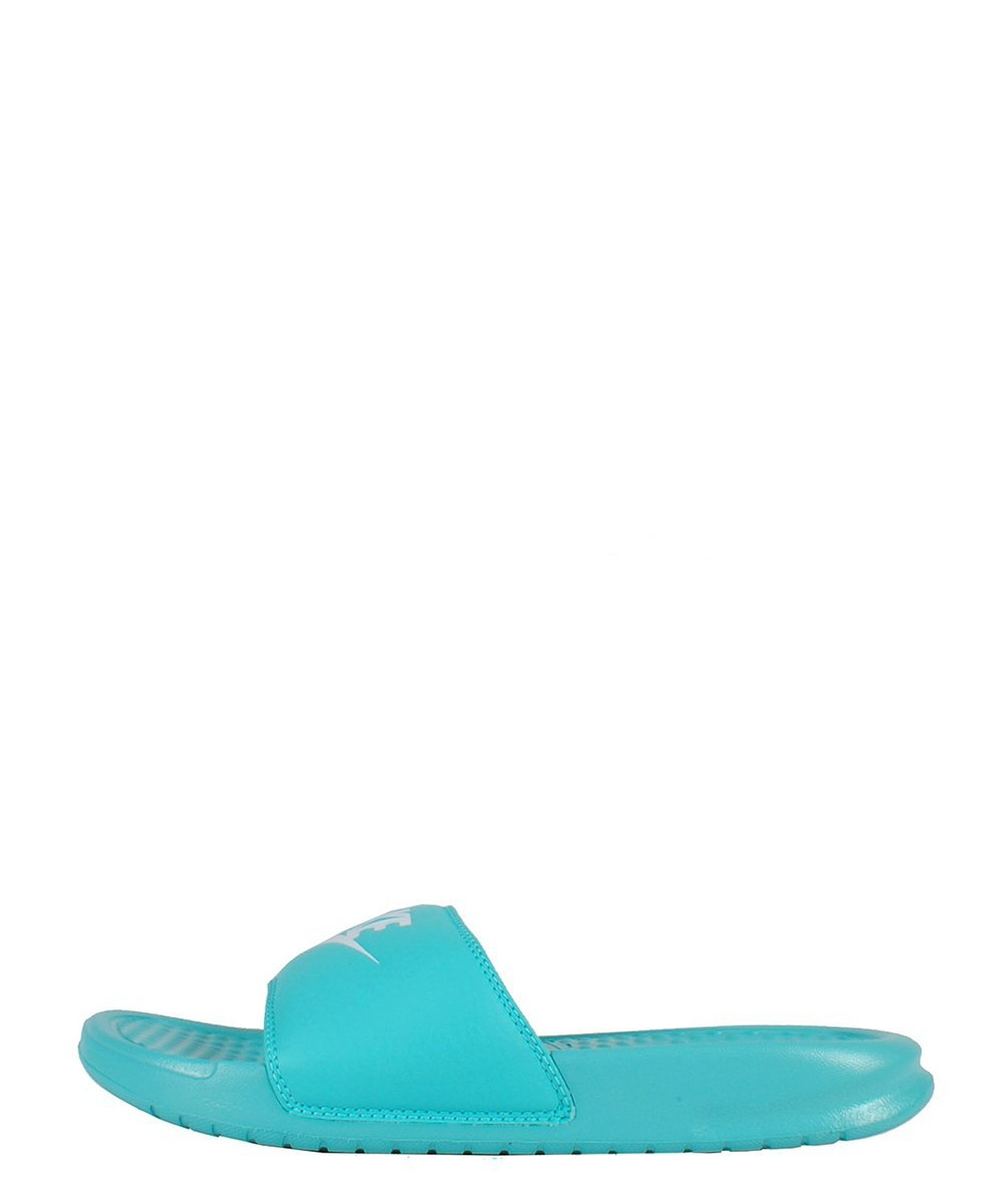 great fit presenting modern and elegant in fashion Nike Womens Benassi Just Do It Sandal (5, HYPER TURQUOISE/WHITE) |  Amazon.com