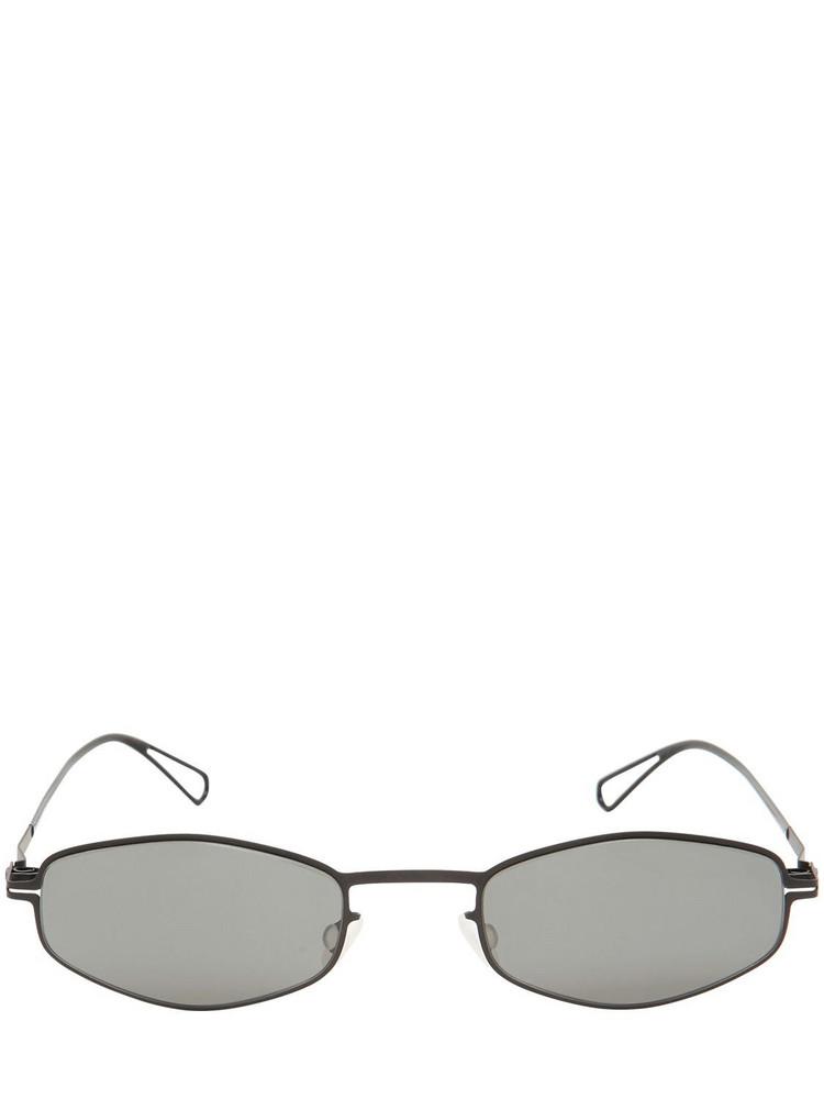MYKITA Lightweight Metal Frame Sunglasses in black