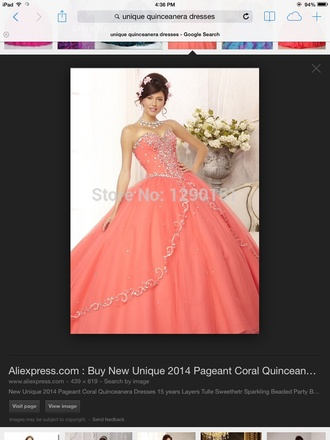 quinceanera dress salmon coral