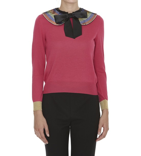 gucci jumper bow pink sweater