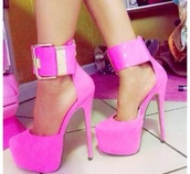 shoes,high heels,cute high heels,white,pink,stilettos,fashion,gold,gold jewelry,6 inch heels,sandals,sneakers,ariana grande,vintage,girly,purple platform heel,faux suede,pinkbasis,zooey