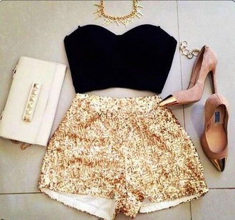 tank top crop tops necklace shorts skirt girly summer dress high heels elegant high waisted shorts shoes