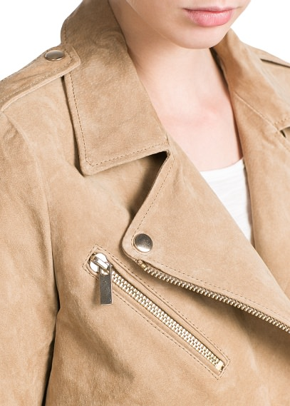 MANGO - CLOTHING - Dresses - Peccary biker jacket