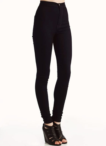 High Waisted Skinny Black Jeans - MX Jeans