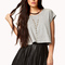 Rolled sleeve cropped tee | forever 21 - 2076965399
