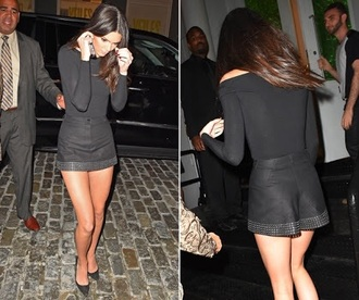 skirt black kendall jenner victoria's secret mini skirt short