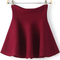 Flouncing flare red skirt