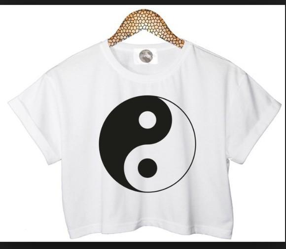 yin yang crop tops