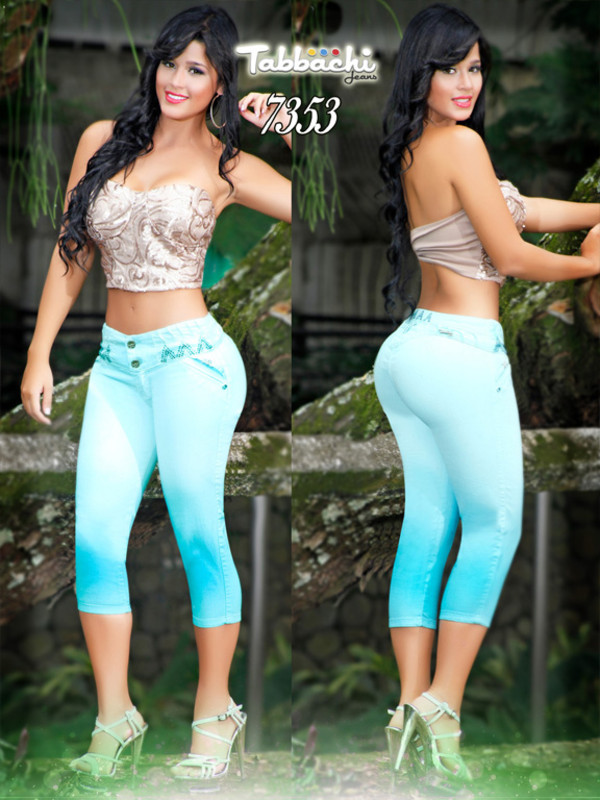 jeans capri pants colombian jeans colored pants colored jeans tabbachi butt lifting jeans turquoise pants yallure yallure.com