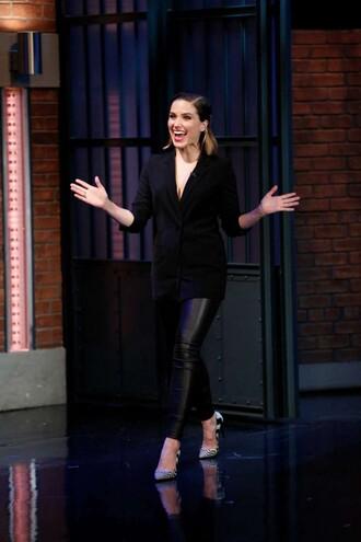 pants pumps sophia bush blazer all black everything