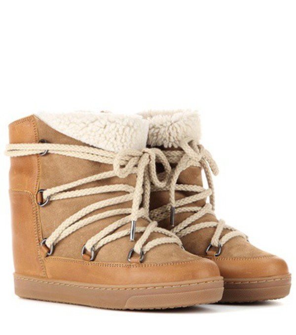 Isabel Marant Étoile Nowles ankle boots in beige / beige