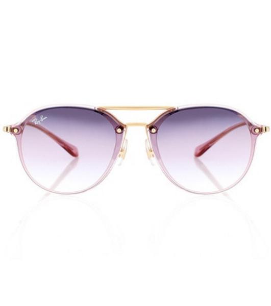 Ray-Ban Blaze aviator sunglasses in purple