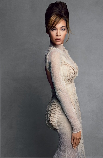 dress beyoncé dress vogue2013 givenchy beyoncé vogue 2013 help ! beyonce gown lace dress lace editorial romantic cream dress beige dress sequin dress maxi maxi dress turtleneck backless dress long sleeve dress prom dress