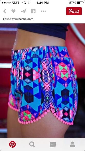 shorts neon