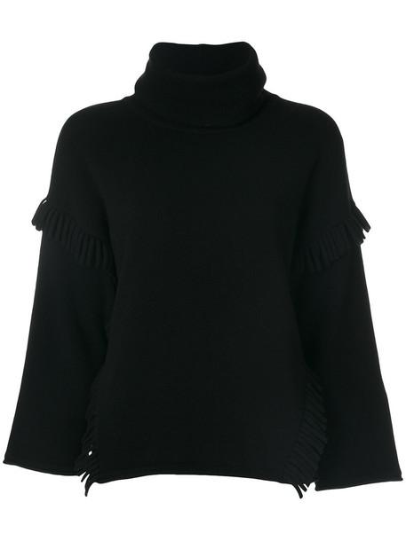 Blugirl sweater knitted sweater women black wool