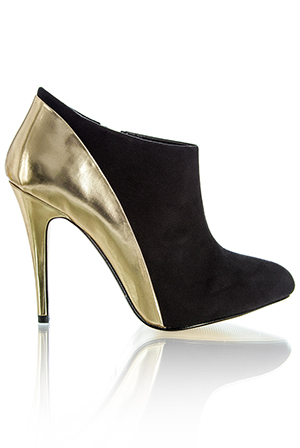 Contrast Metallic Ankle Boot