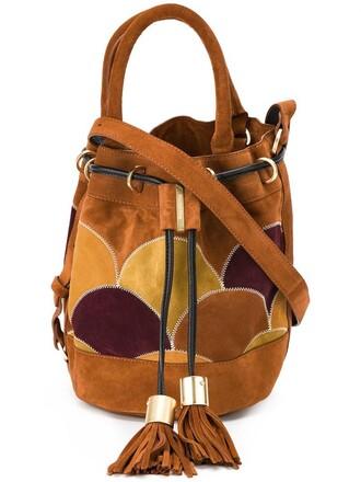 patchwork women brown bag