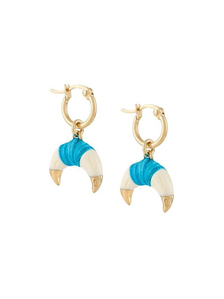 AURELIE BIDERMANN women earrings gold white cotton jewels