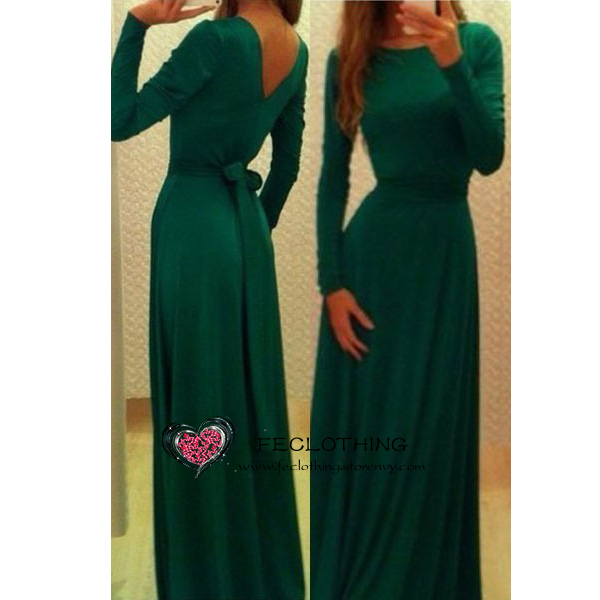 Emerald belted v neck back maxi dress · fe clothing · online store powered by storenvy