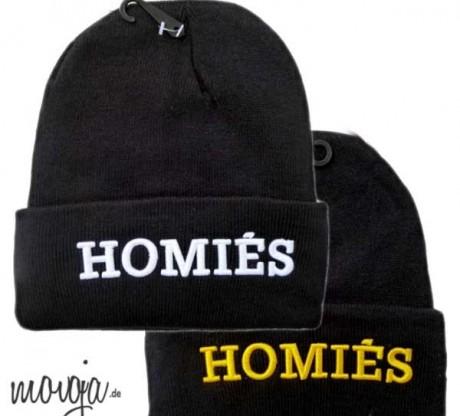 Homies Beanie Beanies Mütze Hat Blogger Homiès Homiés Blogger Beanies Schriftzug Letters Aufschrift Hermes Accessoires / Mode Mützen / Beanies