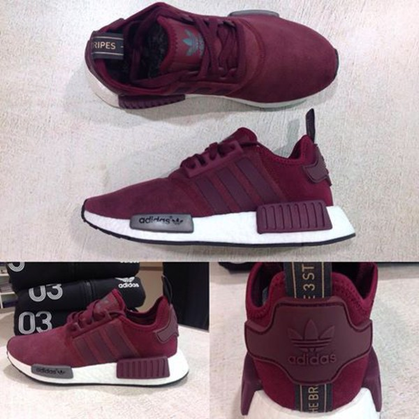 6f4dd63bd Adidas Nmd Womens Maroon kenmore-cleaning.co.uk