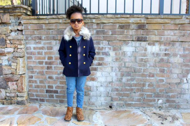babyshopaholic blogger coat jeans shoes