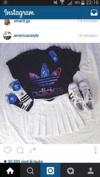blouse adidas socks socks adidas superstars adidas adidas jacket adidas originals adidas shirt galaxy print cute socks