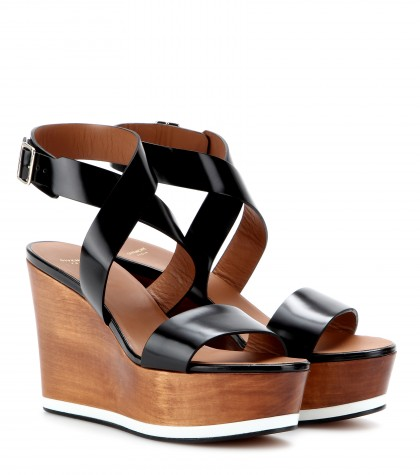 mytheresa.com -  Liloo leather wedge sandals  - high heel - sandals - shoes - Luxury Fashion for Women / Designer clothing, shoes, bags