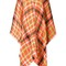 Boutique moschino checked poncho, women's, yellow/orange, nylon/wool