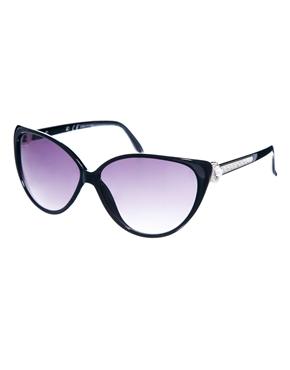River Island | River Island – Claudia – Sonnenbrille mit Katzenaugendesign und verzierten Bügeln bei ASOS