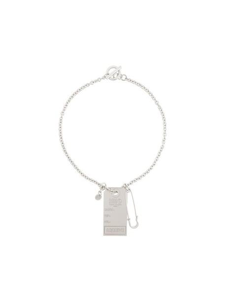 women necklace pendant grey metallic jewels
