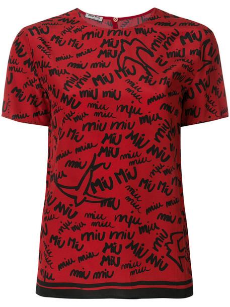Miu Miu top women silk red