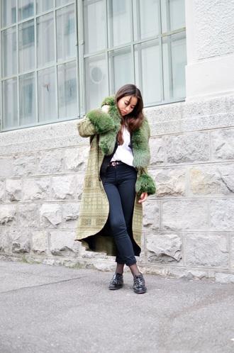 blaastyle blogger winter coat faux fur