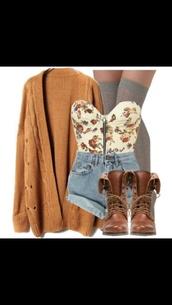 cardigan,beige,vintage,wool,blouse,back to school,shoes,top,indie,hippie,boots,socks,crop tops,sweater