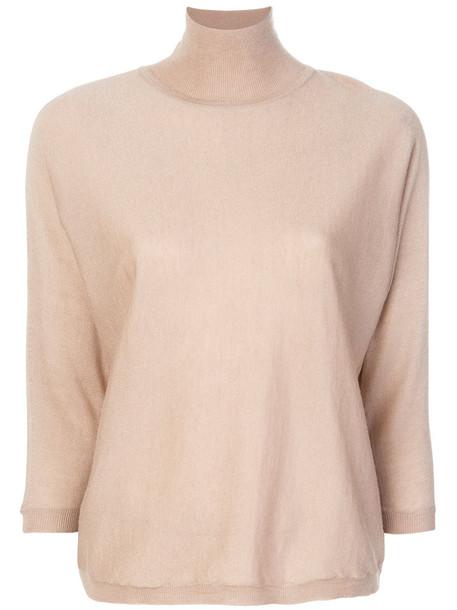 Max Mara - turtleneck jumper - women - Silk/Cashmere - S, Nude/Neutrals, Silk/Cashmere