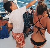 swimwear,black,bikini,tumblr,criss cross,back,tumblr bikini,pinterest,costa rica,handmade,stringy