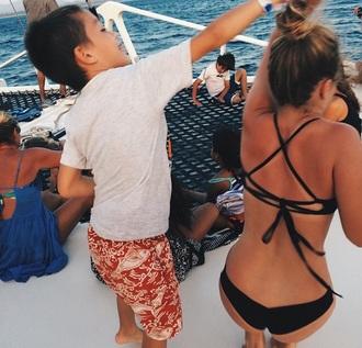 swimwear black bikini tumblr criss cross back tumblr bikini pinterest costa rica handmade stringy