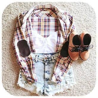 shorts vest white crop boots light jeans shoes shirt cropped acid wash denim blouse cream top summer