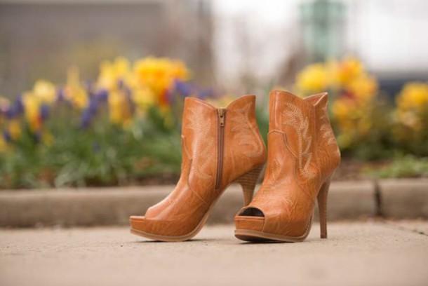 booties peep toe boots