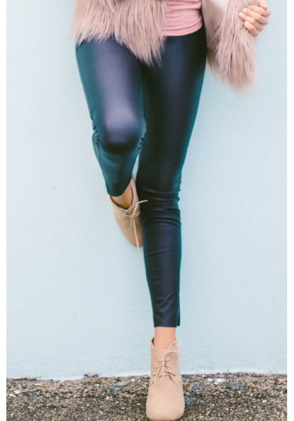 Leah Leggings- Your perfect pair of leather leggings have arrived. The faux