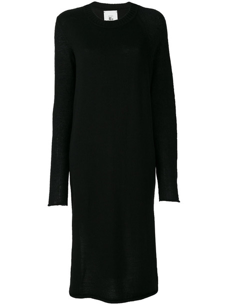 Lost & Found Rooms dress midi dress women midi slit mohair black wool