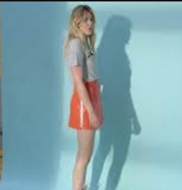 shirt louane orange skirt