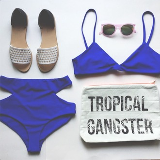 swimwear bikini swimsuit blue